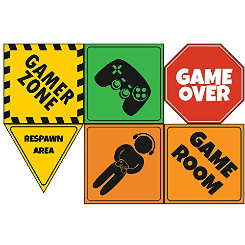 """Video Game Party Sign 6"""" Cutouts, Video Game Party Decorations, Gaming Party Supplies, Room Decorations, Party Signs"""
