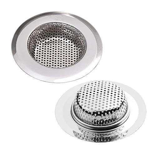 JOJYO Abflusssieb,Abflusssieb Küche Abfluss Sieb für Dusche, Spüle, Waschbecken Badewanne Verhindern Verstopfung 2.75 Zoll /7CM 2 Stück (Klein)