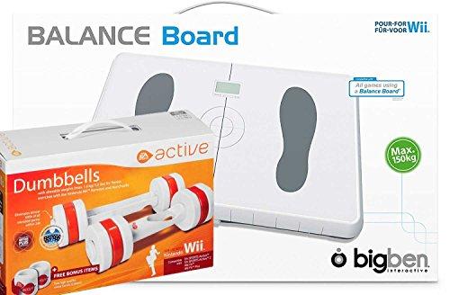 Eliware Wii - BigBen Balance Board con Mancuernas activas EA