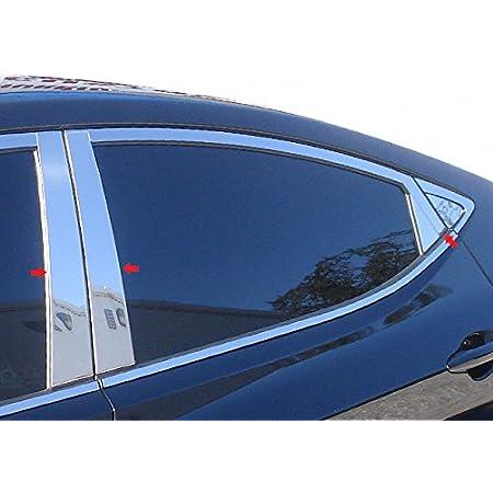 Made in USA Works with 2011-2016 Hyundai Elantra Sedan 4PC Stainless Steel Pillar Post