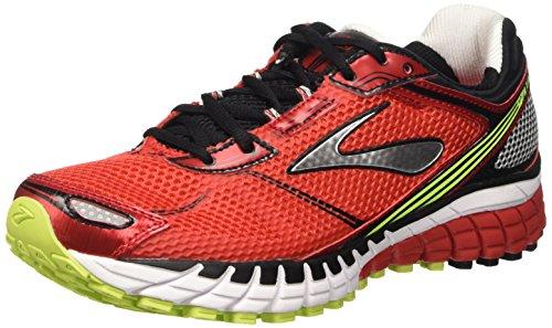 Brooks Aduro 3 M Scarpe da corsa, Uomo, Multicolore (High Risk Red/Black/Nightlife), 42
