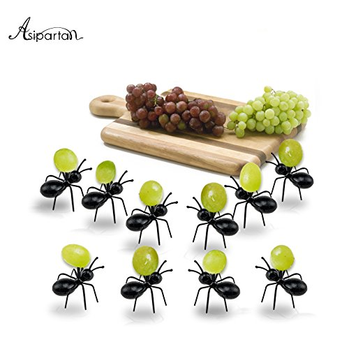 12pcs/set Fruit Fork Reusable Kawaii Ant Fruit Fork Tableware Multiple Use