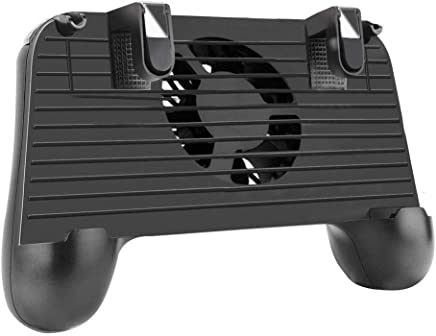"""Mobile Game Controller, 4-in-1 Upgrade Version Gamepad Holder Stand with Cooling Fan Power Bank, Shoot and Aim Mobile Trigger Joystick for 4-6.5"""" Phone PUBG / Fortnite / Knives Out"""