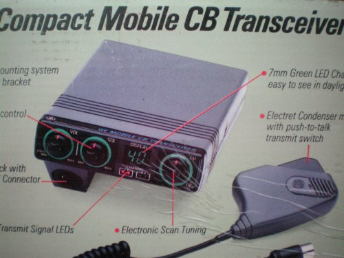 in budget affordable Compact Mobile Transceiver CB General Electric GE