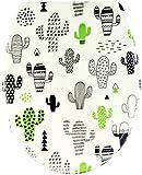Sareno Asiento de inodoro con dispositivo automático de descenso automático, Duroplast, diseño de cactus