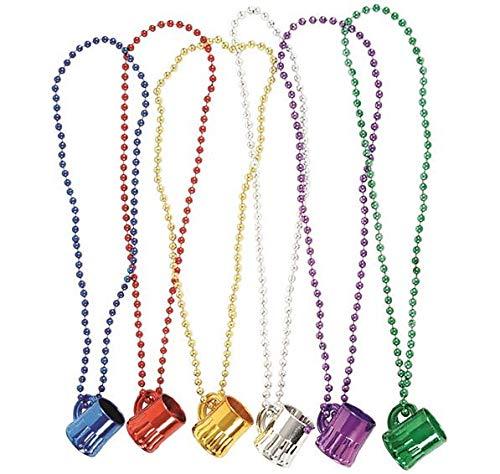Rhode Island Novelty Mardi Gras Mug Shot Glass Beads 12 Necklaces