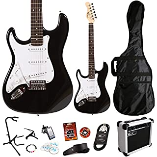 Lindo *Deluxe Pack* Black Left Handed ZST Series Electric Guitar and SA-15 15w Amp Pack *Includes an extra 11 Accessories* (B006JNAMUA)   Amazon price tracker / tracking, Amazon price history charts, Amazon price watches, Amazon price drop alerts