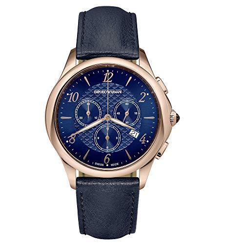Emporio Armani Swiss - Reloj cronógrafo para hombre, de moda, cód. ARS8701