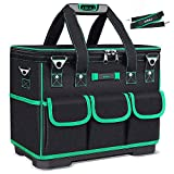 AIRAJ 18-inch Height Tool Bag, Waterproof Tool Bag That Can Be Converted Between Triangle And Rectangle, Heavy Tool Bag Resistant To Sharp Tools, With Adjustable Shoulder Strap And Parts Box