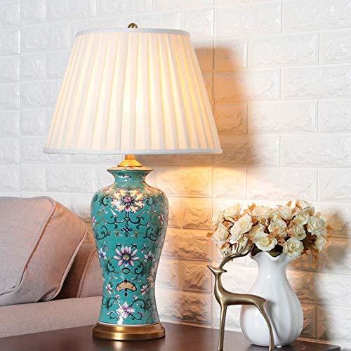 Hancoc (Una sección plegable vista creativa lámpara de mesa de cerámica para dormitorio, mesita de noche, modelo de sala de estar, decoración de estudio grande, 40 x 70 cm