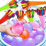 222 verschiedenfarbige Wasserballons, in 6 Bündeln (37 wasserbomben pro Bündel),selbst verschließend ohne Knoten, pool zubehör spaß