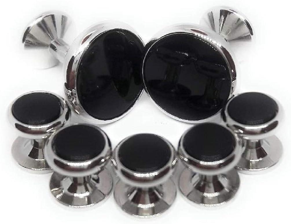 Menz Jewelry Accs Genuine Onyx Cufflinks and Studs