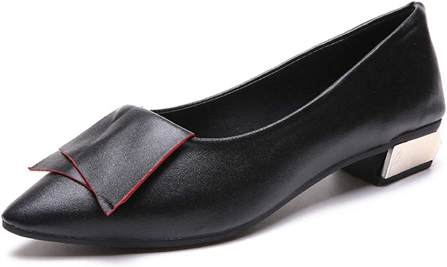 Women's Flats,Chunky Heel Comfortable Fashion Black Red Daily Work shoes
