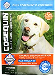 Your veterinarian may suggest COSEQUIN supplements if your dog is having difficulties climbing stairs, jumping into the car, or going for walks COSEQUIN supplements are formulated to meet a variety of needs COSEQUIN is available in a tasty soft chew ...