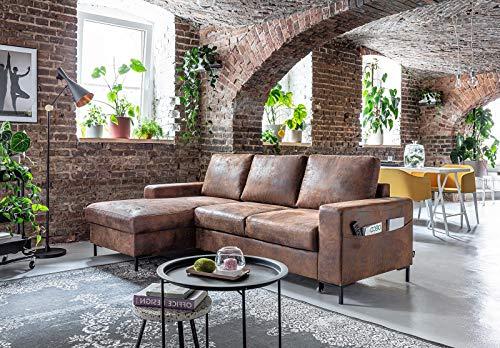 Canapé d'angle 4 places Vintage Confort
