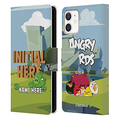 Head Hülle Designs Offiziell Zugelassen Personalisierte Persönliche Angry Bird Holzbrief Kunst Leder Brieftaschen Handyhülle Hülle Huelle kompatibel mit Apple iPhone 12 Mini