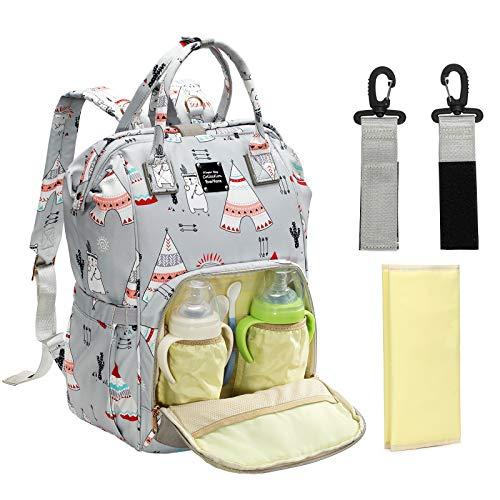 EverVanz Bolso multifuncional para bebés, mochila para pañales de gran capacidad, bolso impermeable para cambio de pañales,bolsos elegantes de maternidad para pañales para mamá/papá