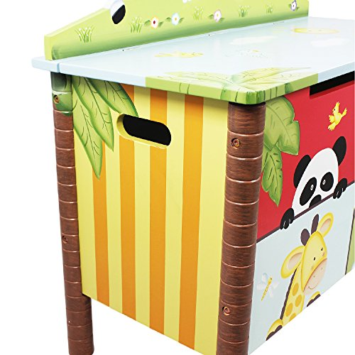 Fantasy Fields Childrens Sunny Safari Kids Holz-Spielzeugkiste W-8269A - 9