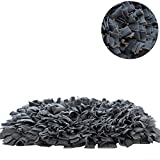 "YINXUE Pet Snuffle Mat Durable Washable Dog Slow Feeding Mat (22"" x 16"") Anti Slip Puzzle Blanket for Distracting Smell Training Foraging, Grey"