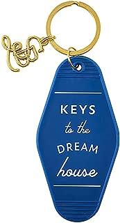 Blue Keys to the Dream House Vintage Motel Key Tag, 3 1/2 Inch