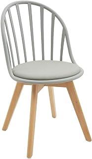 White loft LF677 - Juego de 2 sillas de Color Gris, Polipropileno, 46 x 57 x 85 cm