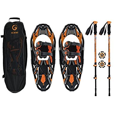Go2gether Snowshoes Kit for Adult (21 inches, Optimized Weight Range up to 150lb)