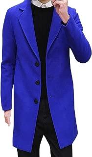 Men Formal Single Breasted Jacket New Winter Figuring Trench Overcoat Long Wool Outwear