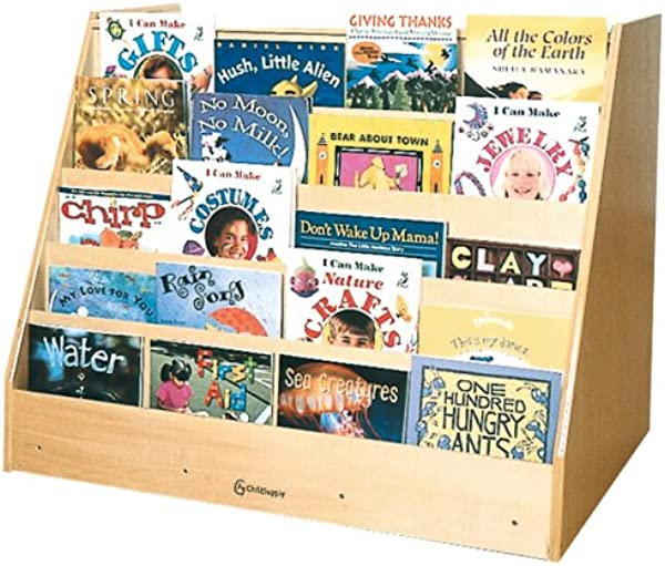 A Childsupply Book Display With Storage Unit