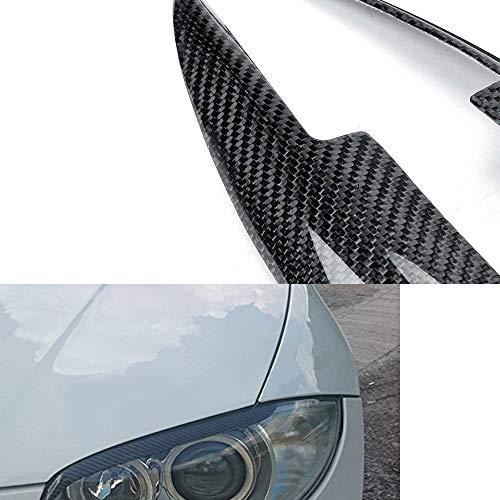 HAZYJT Carbon Fiber Scheinwerfer Augenbraue Augenlid für BMW E81 E82 E87 E88 128I 135I 2004 2005 2006 2007 2008 2009 2010