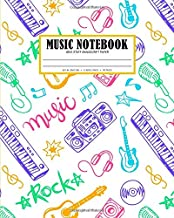 Music Notebook Wide Staff Manuscript Paper: Six Large Blank Staves Per Page (8x10 in. Sheet Music Journal Series)