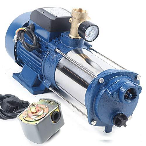 sujrtuj 1,8 kW Wasserpumpe Gartenpumpe Kreiselpumpe Strahlwasserpumpe 9000 L/H Max. 230 V mit Schalter