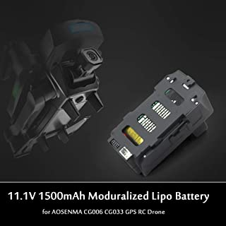 Leslaur 11.1V 1500mAh Moduralized Drone Lipo Battery for AOSENMA CG006 CG033 GPS RC Drone Quadcopter