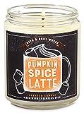 White Barn Candle Company Bath and Body Works Single Wick Scented Candle w/Essential Oils - 7 oz Pumpkin Spice Latte (Fresh Espresso, Pumpkin Pie Spice, Whipped Cream, Sprinkling of Cinnamon Sugar)