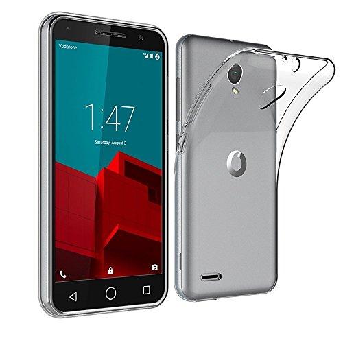 REY Funda Carcasa Gel Transparente para VODAFONE Smart Prime 6, Ultra Fina 0,33mm, Silicona TPU de Alta Resistencia y Flexibilidad