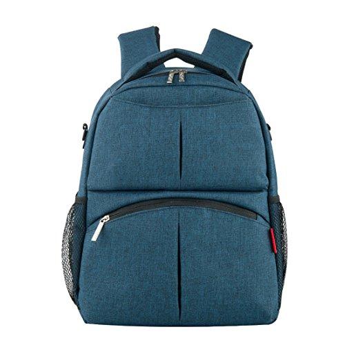 Diaper Bag Backpack Large Capacity Backpack Travel Backpack (Cyan)