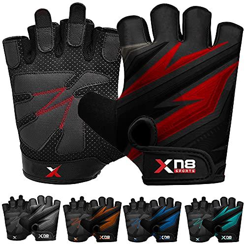 XN8 Guanti Palestra Sollevamento Pesi Protezione Completa Antiscivolo Imbottiti Perfetti per Trazioni alla Sbarra Bodybuilding Powerlifting Protezioni Mani