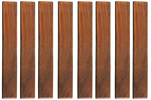 Bare Decor BARE-WF2012 EZ Loop Ends Side Trim Piece Interlocking Flooring in Solid Teak Wood, 8 Pin, Brown, 8 Count