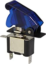DaierTek Car Blue LED Light Toggle Switch 20A 12VDC Rocker Switch SPST ON-Off 3Pin with Aircraft Cover Guard (Blue) for Marine Boat Truck