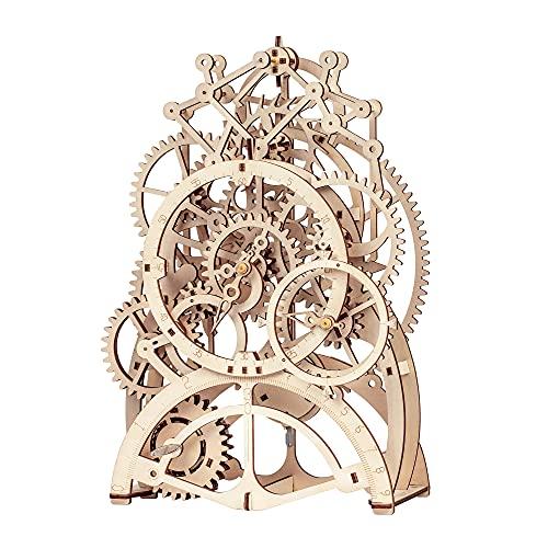 Robotime Rompecabezas de Madera 3D Cortado con láser - Kits de Modelo autopropulsados - Juego de construcción mecánica - Rompecabezas para niños, Adolescentes y Adultos (Pendulum Clock)