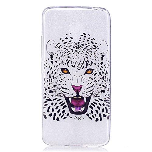 pinlu® Funda para Meizu M3S / M3 Suave TPU Silicona Claro Transparente Case Ultra Delgada Anti Arañazos Duradero Espalda Cubierta Diseño - Leopardo