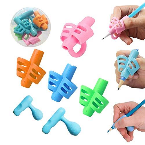 Pencil Grip, Dsaren 6 Piezas Agarres para Lápices Ergonómico Escritura Ayuda Agarre Postura Corrección Herramienta para Niños Adultos Necesidades Especiales