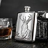 SJIUH Petaca matraz de cadera de acero inoxidable de 6 onzas de alta calidad, botella de whisky portátil de alta calidad, C