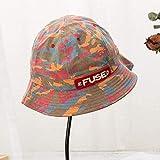Vinteen Sombrero del Pescador Viaje de la Flor de la Hoja del Sombrero de Tela Pot Sombrero al Aire Libre Parasol Sombrero de Montañismo Protector Solar Sombrero, Verde, un tamaño (Color : Rojo)