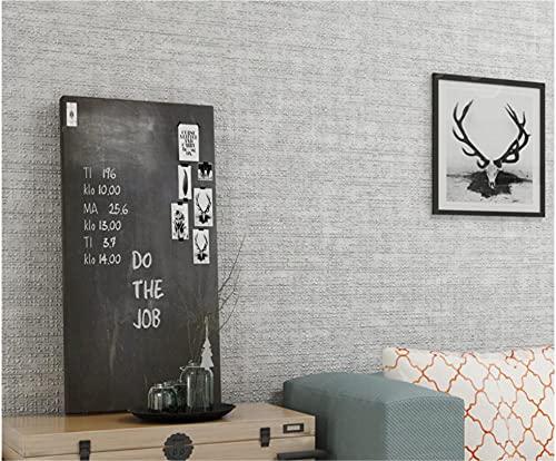 Papel tapiz 9.5M Imitación de barro de diatomeas color liso gris claro Papel pintado minimalista no tejido para Dormitorio Sala de estar Papel tapiz Telón de fondo de TV Decoración de paredes