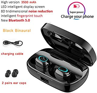 FairOnly S11 Blueteeth Earphone Wireless Sport Earbuds BT 5.0 Built in Microphone with 3500mAh Power Bank Black without digital display Electronics