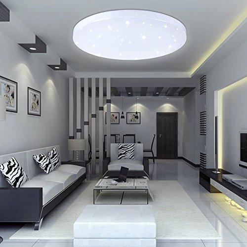 VINGO® 16W LED lampada da soffitto Bianca Fredda LED Plafoniera Lampada Letto, Soggiorno, Salotto, Ufficio LED