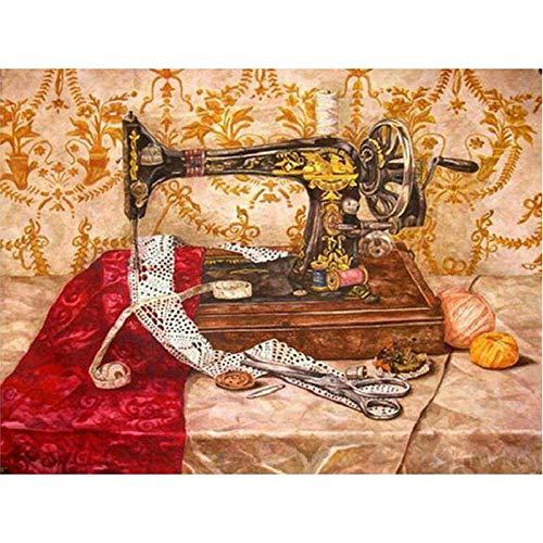 Dybjq Kit de punto de cruz para manualidades con diamantes de imitación, máquina de coser 5D, diseño de mosaico, 40 x 50 cm
