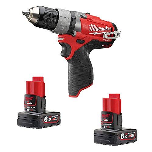 Milwaukee 4933451508 - M12 cdd-602x fuel taladro atornillador fuel-sin escobillas 12v, 6,0ah, 0-450/0-1700rpm, 44nm