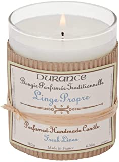 Durance de Provence Hand Crafted Scented Candle - Fresh Linen