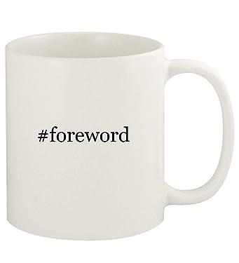 #foreword - 11oz Hashtag Ceramic White Coffee Mug Cup, White